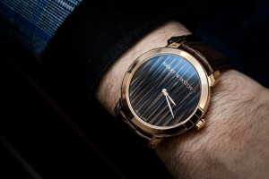 Harry Winston Midnight Feathers Automatic on the wrist