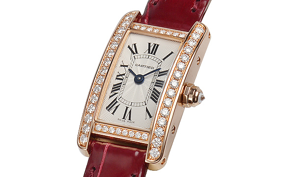 There are some round-cut diamonds inset on the cases of pretty Cartier Tank fake watches.
