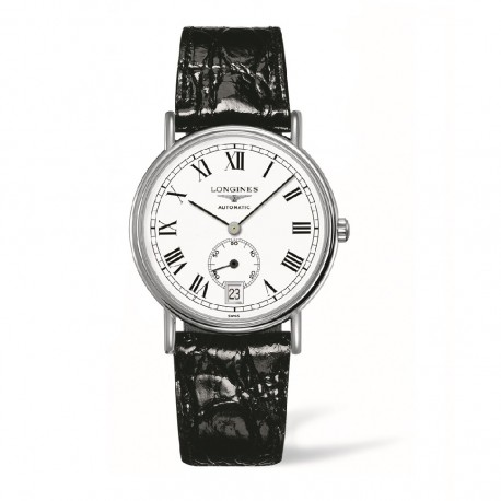 The white dials have black hour markers and hands, easy for wearers to read time.