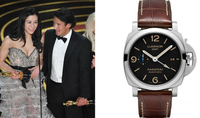 The brown leather strap makes this Panerai more elegant than other models.