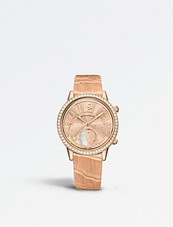 The female fake watches have pink straps.