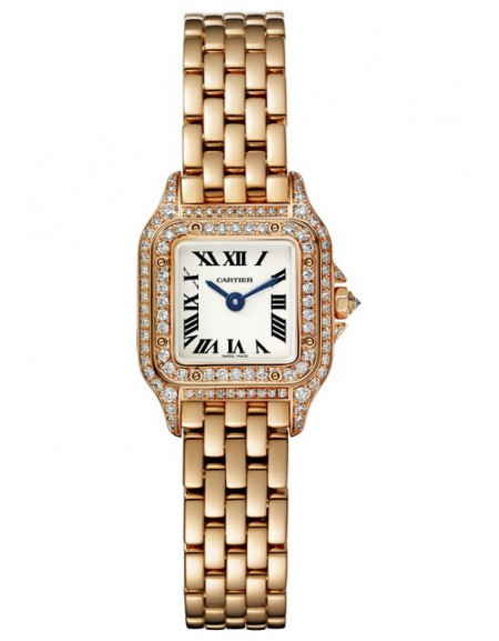 The 18k rose gold fake watches have white dials.